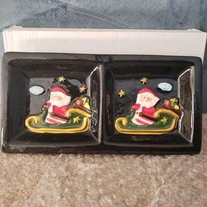 Other - Small ceramic Santa tray